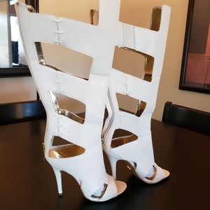BEBE Brand New Knee High Caged High Heel Sandal